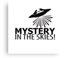 Mystery in the skies! Canvas Print