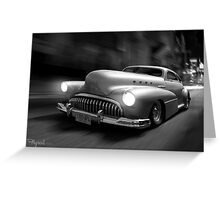 Buick Noir Greeting Card
