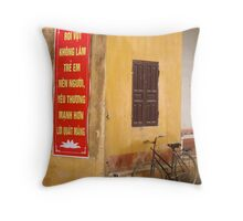 Peddle Power Throw Pillow