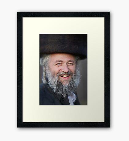 A piece of you  & a piece of me !  Mazel tow ! Toda raba ! Shalom ! ha chever sheli  !!!! .  « arrête toi, tu es si beau » by Doktor Faustus. Framed Print