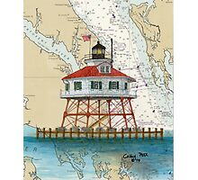 Drum Pt Lighthouse MD Nautical Chart Cathy Peek Photographic Print