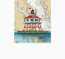 Drum Pt Lighthouse MD Nautical Chart Cathy Peek Unisex T-Shirt