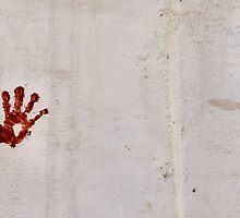 Hand on the wall by Marjolein Katsma