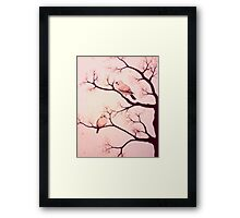 Cherry blossom birds Framed Print