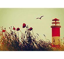 Damals am Leuchtturm Photographic Print