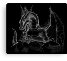 Black Dragon1 Canvas Print