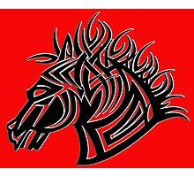 Tribal Horse V Photographic Print