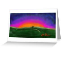 Sunset Cuddles Greeting Card
