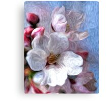 Asian Cherry Blossoms Oil Painting 2 Canvas Print