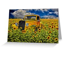 Yellow fields of happiness Greeting Card