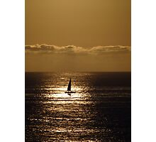 Yellow Sailing - Navegación A Vela Amarilla Photographic Print