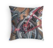 Ready for a Bike Ride? Throw Pillow