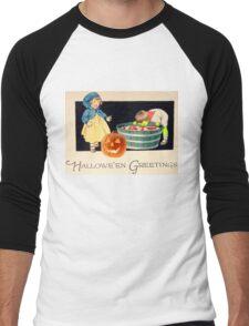 Little Zombie Tommy  (Vintage Halloween Card) Men's Baseball ¾ T-Shirt