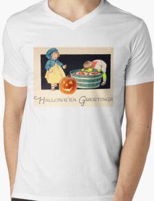 Little Zombie Tommy  (Vintage Halloween Card) Mens V-Neck T-Shirt