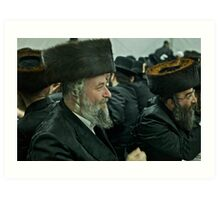"""7 ★★★★★ . A tish takes place at the meals in honor of the Shabbat, Jewish holidays, yahrzeit (""""annual memorial"""") for previous rebbes of that dynasty. by Doktor Faustus. Fav 2  views 256 .  Hat Heads ! Art Print"""
