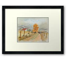 REST AND SPACE - AQUAREL Framed Print