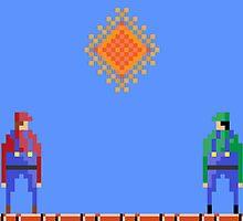 Mario vs Luigi by Bryan Martin