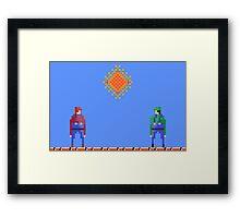 Mario vs Luigi Framed Print