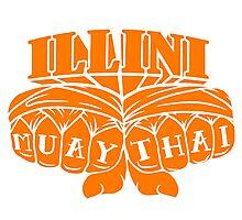 Illini Muay Thai - Fists Photographic Print