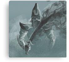 fog sword warrior Canvas Print