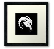 Morbid Skull With Ram Horns Framed Print
