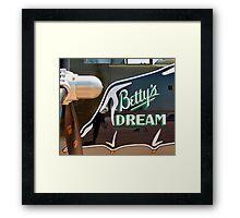 Betty's Dream Framed Print