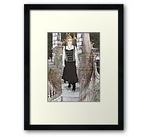Moosey On The Stairs Framed Print