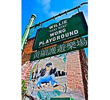 Willie Wong Playground Photographic Print