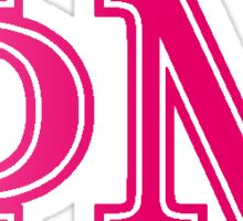 phi mu ombre pink letters Sticker