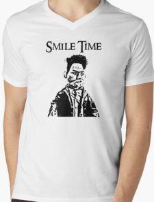 Smile Time Mens V-Neck T-Shirt