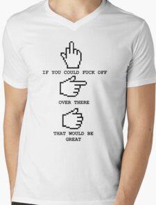 Just saying Mens V-Neck T-Shirt