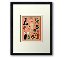Amelie Poster Doll Framed Print