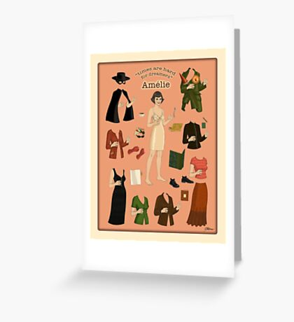 Amelie Poster Doll Greeting Card