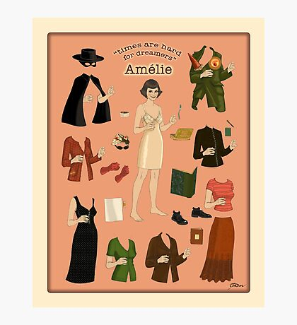 Amelie Poster Doll Photographic Print