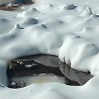 Hole in the snow by Antonia  Valentine