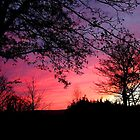 Fiery sky over Exmoor by Rivendell7