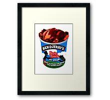 Brain Freeze Ice Cream Framed Print