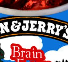Brain Freeze Ice Cream Sticker