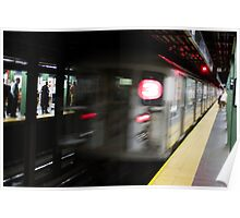 Fast Moving Train Poster