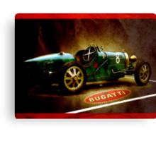Time machine. Vintage Bugatti race car Canvas Print