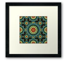 back to 70's, blue,green, yellow Framed Print