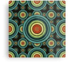 back to 70's, blue,green, yellow Metal Print
