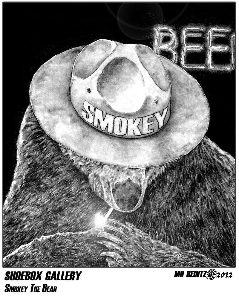 SHOEBOX GALLERY: Smokey The Bear by MH Heintz