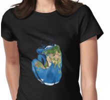 """""""Great Artists Steal"""" Pablo Picasso Inspired Blue Earth Nude Womens Fitted T-Shirt"""
