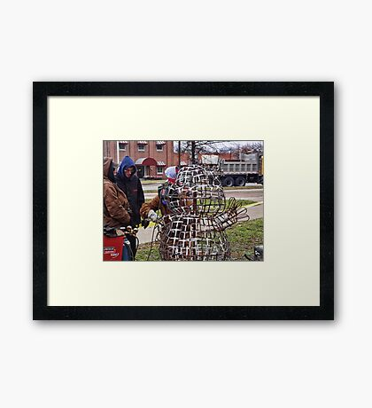 Oh no, not another groundhog! Framed Print