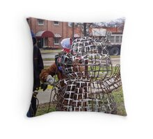 Oh no, not another groundhog! Throw Pillow