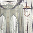 Brooklyn Bridge Summer Rain by Randy  LeMoine