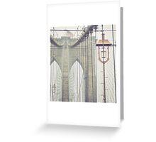 Brooklyn Bridge Summer Rain Greeting Card