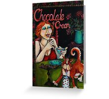 Chocolate and Cream Greeting Card