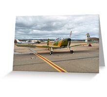 De Havilland Chipmunk Basic Trainer Greeting Card